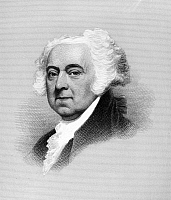 0131600 © Granger - Historical Picture ArchiveJOHN ADAMS (1735-1826).   Second President of the United States. Stipple engraving, 19th century, after a 1815 portrait by Gilbert Stuart.
