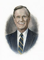 0007750 © Granger - Historical Picture ArchiveGEORGE H.W. BUSH (1924- ).   41st President of the United States. Contemporary American steel engraving.