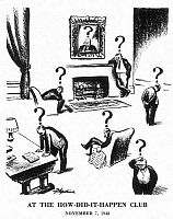 0027652 © Granger - Historical Picture ArchivePRESIDENTIAL CAMPAIGN, 1948.   'At the How-Did-It-Happen Club': cartoon, 7 November 1948, by D.R. Fitzpatrick for the St. Louis Post-Dispatch on President Truman's surprising re-election earlier that week.