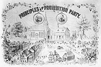 0046070 © Granger - Historical Picture ArchivePRESIDENTIAL CAMPAIGN, 1888.   Clinton A. Fisk and John A. Brooks as the Prohibition Party candidates for President and Vice President. Lithograph poster, 1888.