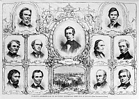 0128602 © Granger - Historical Picture ArchivePRESIDENTIAL CAMPAIGN, 1860.   'Prominent Candidates for the Republican Presidential Nomination at Chicago,' 1860. Contemporary wood engraving from 'Harper's Weekly.'