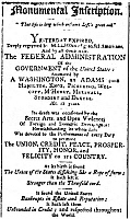 0128618 © Granger - Historical Picture ArchiveDEATH OF FEDERALISM, 1801.   Notice in the 'Columbian Centinel' of Boston, 4 March 1801, lamenting the election of Thomas Jefferson and the end of 'The Federal Administration Animated by Washington, Adams, and Hamilton.'