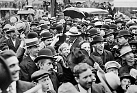 0130024 © Granger - Historical Picture ArchivePRESIDENTIAL CAMPAIGN, 1908.   Crowds in Faribault, Minnesota, gathered to hear Republican candidate William Howard Taft speak on his whistle-stop tour during the U.S. presidential campaign of 1908.