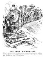 0354172 © Granger - Historical Picture ArchiveROOSEVELT CARTOON, 1906.   'The Busy Showman - IV.' President Theodore Roosevelt driving his Railroad Rate Bill through a tangle of amendments. American cartoon by W.A. Rogers, 1906.