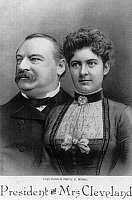 0128511 © Granger - Historical Picture ArchiveGROVER & FRANCES CLEVELAND.   American president Grover Cleveland and his wife, Frances Folsom Cleveland. Lithograph, c1893.