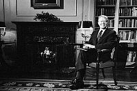 0118732 © Granger - Historical Picture ArchiveJIMMY CARTER (1924- ).   39th President of the United States. Photographed at the White House during a fireside chat on the Panama Canal Treaty. Photograph by Marion S. Trikosko, 1 Febuary 1978.