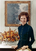0131679 © Granger - Historical Picture ArchiveROSALYNN CARTER (1927- ).   Wife of President Jimmy Carter. Official photograph of the First Lady, c1977.