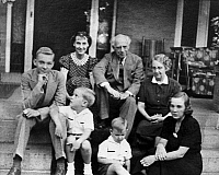 0259717 © Granger - Historical Picture ArchiveEISENHOWER FAMILY, 1938.   Mamie Eisenhower and her family photographed in Denver, Colorado, October 1938. Back row: John; Mamie and her parents, John and Elivera Doud. Front row: Mamie's nephews Richard and Michael; and her sister Mabel Frances Doud Gill Moore.