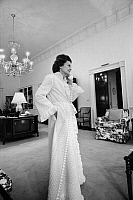 0125902 © Granger - Historical Picture ArchiveBETTY FORD (1918-2011).   Née Elizabeth Anne Bloomer. Wife of Gerald Ford. Speaking on the telephone in the living quarters at the White House, Washington, D.C., 6 February 1975. Photographed by Marion S. Trikosko.