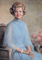 0259996 © Granger - Historical Picture ArchiveBETTY FORD (1918-2011).   Née Elizabeth Anne Bloomer. Wife of President Gerald Ford. Oil on canvas, 1977, by Felix de Cossio. EDITORIAL USE ONLY.