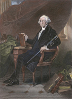 0010567 © Granger - Historical Picture ArchiveGEORGE WASHINGTON  (1732-1799). Engraving, 19th century.