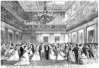 0005654 © Granger - Historical Picture ArchiveINAUGURAL BALL, 1869.   Inaugural ball at the Treasury Department following the inauguration of President Ulysses S. Grant on 4 March 1869. Wood engraving from a contemporary newspaper.