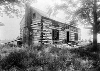 0124575 © Granger - Historical Picture ArchiveHARDSCRABBLE CABIN, c1890.   General Ulysses S. Grant's log cabin which he began building in 1855 near Kirkwood, Missouri. Photograph, c1890.