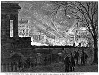 0064208 © Granger - Historical Picture ArchiveHAYES INAUGURATION, 1877.   Celebrations on Pennsylvania Avenue, Washington, D.C., following the presidential inauguration of Rutherford B. Hayes, 5 March 1877. Wood engraving from a contemporary American newspaper.