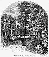0066898 © Granger - Historical Picture ArchiveRUTHERFORD B. HAYES   (1822-1893). 19th President of the United States. The Hayes residence at Fremont, Ohio. Wood engraving, late 19th century.