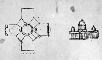 0113523 © Granger - Historical Picture ArchiveJEFFERSON: CAPITOL, 1792.   Sketches of Thomas Jefferson's proposed plan for the new Capitol building in Washington, D.C., inspired by the Pantheon in Paris. Drawing, 1792.
