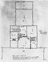 0113528 © Granger - Historical Picture ArchiveJEFFERSON: FLOOR PLAN.   Measured drawing for the Governor's Palace in Richmond, Virginia, by Thomas Jefferson, c1779.