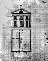 0113558 © Granger - Historical Picture ArchiveUNIVERSITY OF VIRGINIA.   Pavilion designed to house professors at the University of Virginia. Drawing by Cornelia Jefferson Randolph, early 19th century.