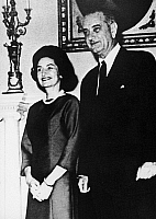0113254 © Granger - Historical Picture ArchiveLYNDON BAINES JOHNSON   (1908-1973). 36th President of the United States. With his wife, 'Lady Bird,' at the Manila Hotel to attend the 1966 Summit Conference.