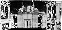 0032174 © Granger - Historical Picture ArchiveSTAGE AT FORD'S THEATRE.   The stage at Ford's Theatre, Washington, D.C., as it appeared the night of President Abraham Lincoln's assassination by the actor John Wilkes Booth, 14 April 1865. Photograph.