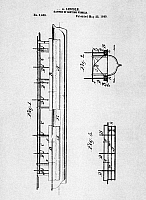0115187 © Granger - Historical Picture ArchiveLINCOLN: PATENT, 1849.   Drawing from the third and final page of Abraham Lincoln's patent application for a method for improving the buoyancy of vessels moving through shallow waters, 1849.