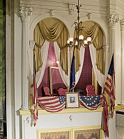 0128930 © Granger - Historical Picture ArchiveFORD'S THEATRE.   The Presidential balcony of Ford's Theater where Abraham Lincoln was assassinated on 14 April 1865 in Washington, D.C. Photograph by Carol M. Highsmith, 2007.