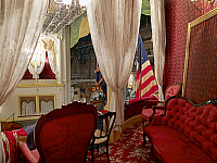 0128932 © Granger - Historical Picture ArchiveFORD THEATRE.   The Presidential balcony of Ford's Theater where Abraham Lincoln was assassinated on 14 April 1865 in Washington, D.C. Photograph by Carol M. Highsmith, 2007.
