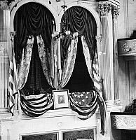 0163477 © Granger - Historical Picture ArchiveFORD'S THEATER, 1865.   President Abraham Lincoln's box at Ford's Theater in Washington, D.C. Photograph, 1865.