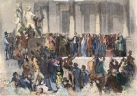 0008164 © Granger - Historical Picture ArchivePIERCE: INAUGURATION, 1853.   The inauguration of Franklin Pierce as the 14th President of the United States on 4 March 1853. Engraving, 1853.