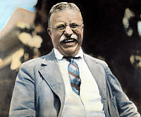 0008697 © Granger - Historical Picture ArchiveTHEODORE ROOSEVELT   (1858-1919). 26th President of the United States. Photographed at Oyster Bay in 1912 shortly after his nomination by the new Progressive party. Oil over photograph