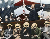 0052844 © Granger - Historical Picture ArchiveTHEODORE ROOSEVELT   (1858-1919) campaigning as the Progressive (