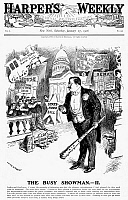 0089783 © Granger - Historical Picture ArchiveROOSEVELT CARTOON, 1906.   'The Busy Showman.' President Theodore Roosevelt as a circus ringmaster controlling Congress with his big stick. American cartoon by W.A. Rogers, 1906.