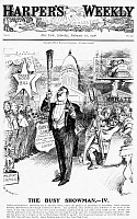 0089788 © Granger - Historical Picture ArchiveROOSEVELT CARTOON, 1906.   'The Busy Showman.' President Thedore Roosevelt as a circus ringmaster controlling Congress with his big stick. American cartoon by W.A. Rogers, 1906.