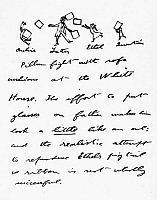 0108185 © Granger - Historical Picture ArchiveTHEODORE ROOSEVELT  (1858-1919). 26th President of the United States. Letter from Roosevelt to his son Kermit with a drawing of a family pillow fight at the White House, c1901-1908.