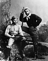 0131674 © Granger - Historical Picture ArchiveTHEODORE ROOSEVELT, 1880.   26th President of the United States. Photographed, seated, during a hunting trip with his younger brother Elliott Bulloch Roosevelt, 1880.