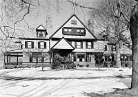 0621823 © Granger - Historical Picture ArchiveSAGAMORE HILL, 1964.   President Theodore Roosevelt's home, Sagamore Hill near Oyster Bay, New York, as viewed from the south. Photograph by Jack E. Boucher, 1964.