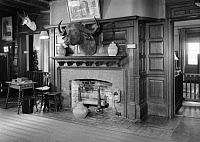 0621825 © Granger - Historical Picture ArchiveSAGAMORE HILL, 1964.   A view of the main hall of President Theodore Roosevelt's home, Sagamore Hill near Oyster Bay, New York. Photograph by Jack E. Boucher, 1964.