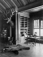 0621837 © Granger - Historical Picture ArchiveSAGAMORE HILL, 1905.   The 'North Room' in President Theodore Roosevelt's home, Sagamore Hill, near Oyster Bay, New York. Photograph, 14 September 1905.
