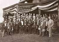 0621839 © Granger - Historical Picture ArchiveTHEODORE ROOSEVELT  (1858-1919). 26th President of the United States. With Speaker of the House Joseph Cannon, members of the Republican Nomination Committee, and other guests at Sagamore Hill. Photograph, 4 August 1904.