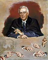 0020695 © Granger - Historical Picture ArchiveFRANKLIN D. ROOSEVELT   (1882-1945). 32nd President of the United States. Oil on canvas, 1945, by Douglas Chandor.