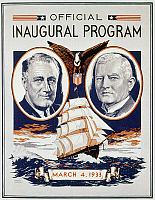 0108639 © Granger - Historical Picture ArchiveFDR: INAUGURATION, 1933.   Official program for the first inauguration of President Franklin Delano Roosevelt.