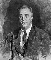 0174698 © Granger - Historical Picture ArchiveFRANKLIN DELANO ROOSEVELT   (1882-1945). 32nd President of the United States. Painting by Ellen Emmet Rand, 1933.