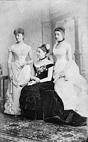 0127536 © Granger - Historical Picture ArchiveTAFT FAMILY, 1884.   Family of American president William Taft. Left to right: Sister-in-law Maria Herron, mother Louise and sister Fanny. Photograph, 1884.