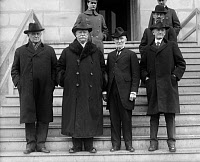 0128388 © Granger - Historical Picture ArchiveWILLIAM HOWARD TAFT   (1857-1930). 27th President of the United States. Right to left: Champ Clark, Taft, Joseph G. Cannon and Samuel McCall. Photograph, c1920.