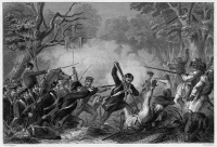 0054737 © Granger - Historical Picture ArchiveZACHARY TAYLOR (1784-1850).   Twelfth President of the United States. Colonel Taylor at the Battle of Okeechobee, December 1837, during the Second Seminole War. Steel engraving, 19th century.