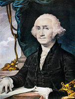 0011746 © Granger - Historical Picture ArchiveGEORGE WASHINGTON.   (1732-1799). Lithograph by Nathaniel Currier.