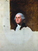 0018630 © Granger - Historical Picture ArchiveGEORGE WASHINGTON   (1732-1799). 1st President of the United States. Oil on canvas, 1796, by Gilbert Stuart, known as the Athenaeum portrait.