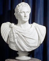 0020702 © Granger - Historical Picture ArchiveGEORGE WASHINGTON.   (1732-1799). 1st President of the United States. Marble bust after Giuseppe Ceracchi.