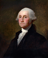 0031627 © Granger - Historical Picture ArchiveGEORGE WASHINGTON, c1796.   (1732-1799). Oil on canvas, c1796, by Gilbert Stuart.
