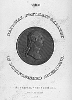 0089587 © Granger - Historical Picture ArchiveGEORGE WASHINGTON   (1732-1799). First President of the United States. Line engraving, 1852, after the obverse of the 'Washington before Boston' medal, c1789, by Pierre Simon Benjamin Duvivier.